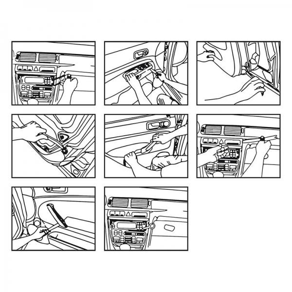 autoraadio eemaldamise komplekt