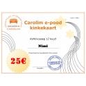 Carolim e-poe kinkekaart 25 EUR