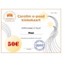 Carolim e-poe kinkekaart 50 EUR
